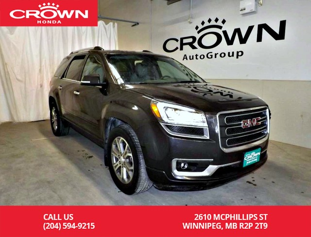 Pre-Owned 2014 GMC Acadia SLT1/navigation sys/8 SEATERS/back up camera/bluetooth/heated seats