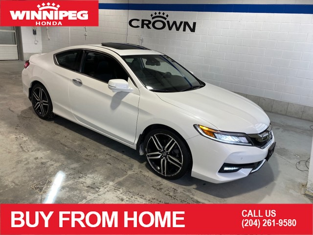 Certified Pre-Owned 2016 Honda Accord Coupe Touring / Certified / Navigation / 7 year/160,000 km warranty /