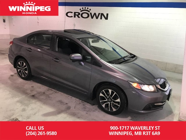 Pre-Owned 2014 Honda Civic Sedan EX/Local trade/Sunroof/Heated seats/Bluetooth