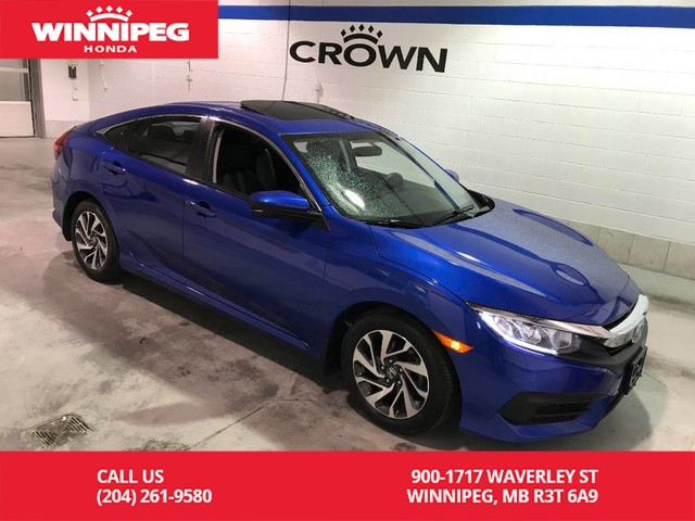 Pre-Owned 2016 Honda Civic Sedan Certified/Bluetooth/heated seats/sunroof/lane watch camera