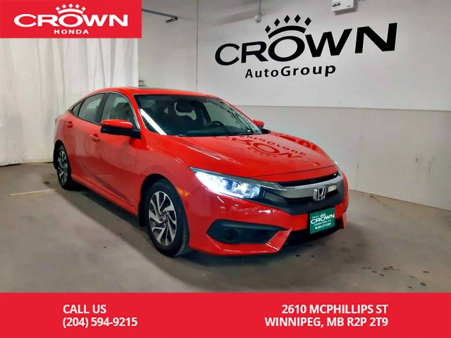 Pre-Owned 2017 Honda Civic Sedan EX/one owner lease return/low kms/ heated seats/back up cam/ sunroof