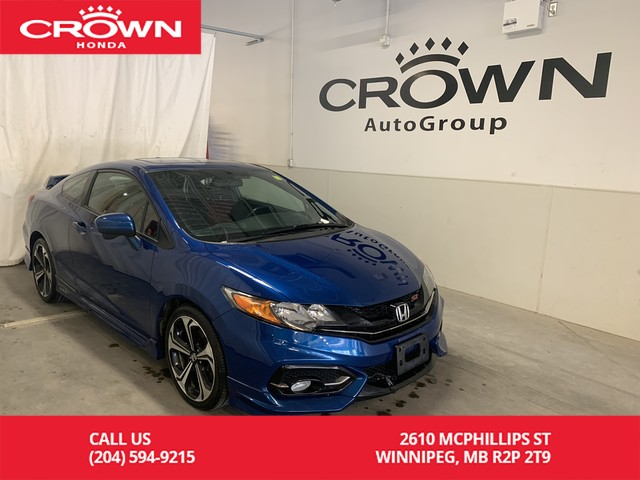 Pre-Owned 2015 Honda Civic Coupe 2dr Man Si/one owner/rear spoiler/ navigation/back up cam/lane watch