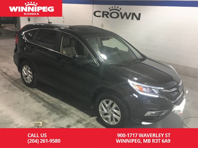 Pre-Owned 2016 Honda CR-V AWD/EX-L/Sunroof/Leather/Heated seats