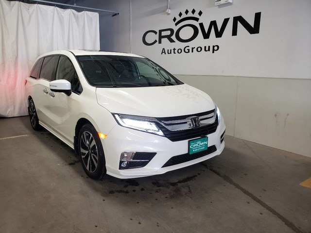 Pre-Owned 2019 Honda Odyssey Touring/ACCIDENT-HISTORY/ LOW KMS/ 8 seater/ rear entertainment sys/ HEATED SEATS&STEERING WHEEL/APPLE CAR PLAY&ANDROID AUTO
