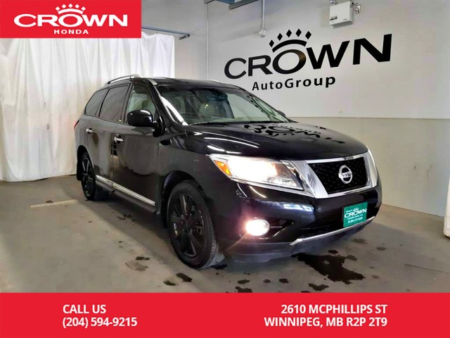 Pre-Owned 2014 Nissan Pathfinder Platinum/4wd/accident-free/ 7 passenger/ navigation/push start