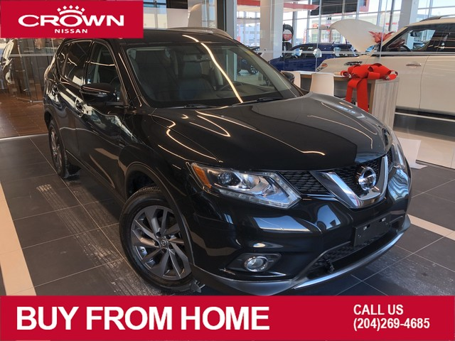 Pre-Owned 2016 Nissan Rogue SL AWD *Leather/Accident Free/Navigation/Crown Original*