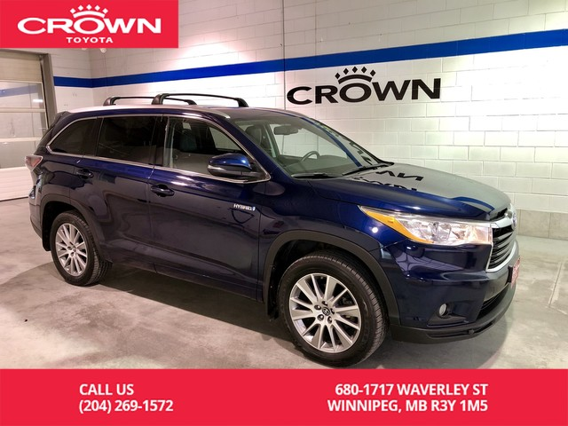 Pre-Owned 2016 Toyota Highlander Hybrid XLE AWD / Local / Accident Free / One Owner / Highway Driven / Great Condition / Unbeatable Value