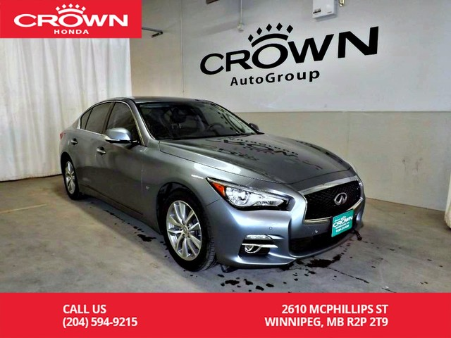 Pre-Owned 2014 INFINITI Q50 Sport/low kms/all wheel drive/2-way remote starter/back up camera/ navigation
