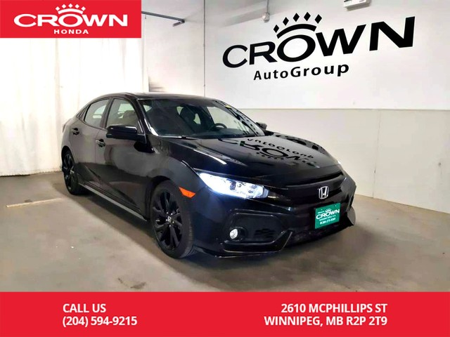 Pre-Owned 2017 Honda Civic Hatchback Sport w/Honda Sensing/clean title/ low kms/ one owner/