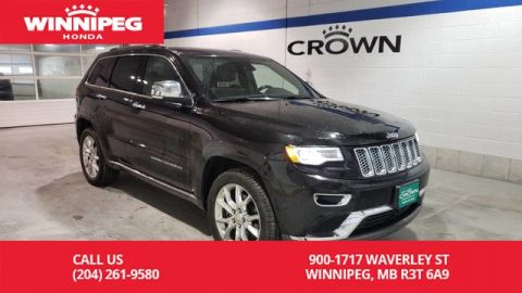 Pre-Owned 2016 Jeep Grand Cherokee Summit/Low Kilometres/Manitoba certified safety/Accident free!