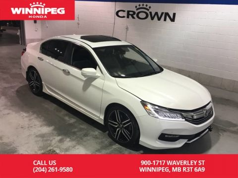 Certified Pre-Owned 2017 Honda Accord Sedan Certified/Touring/Sunroof/Heated seats/Navigaiton/Rear view came