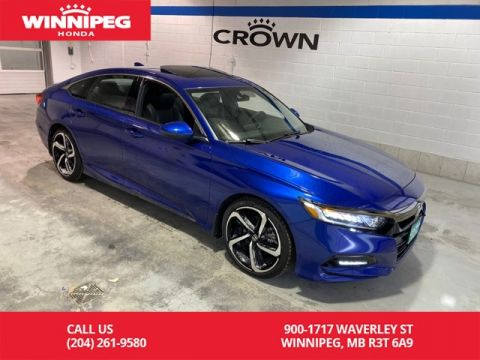 Pre-Owned 2018 Honda Accord Sedan Sport/Sunroof/Bluetooth/Heated seats/Apple car play