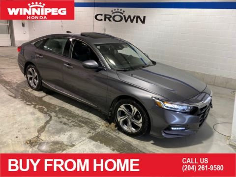 Pre-Owned 2018 Honda Accord Sedan EX-L/Certified/Crown Original/Heated seats/Rear view camera