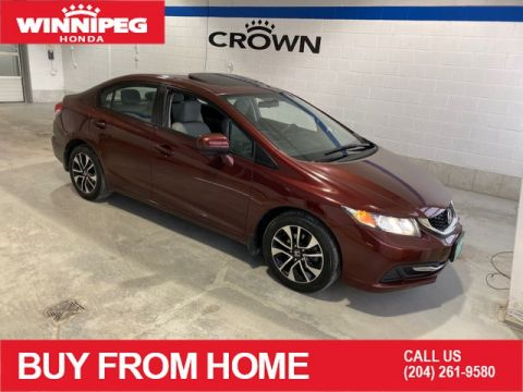 Pre-Owned 2015 Honda Civic Sedan EX / Sunroof / Lane watch camera / Heated seats