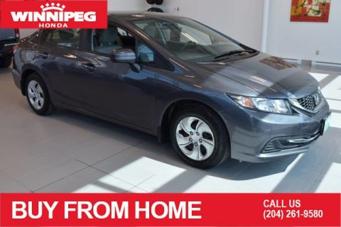 Pre-Owned 2015 Honda Civic Sedan LX / Bluetooth / Heated seats / Rear view camera / ECON Mode