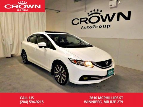 Pre-Owned 2015 Honda Civic Sedan Touring/accident-free history/ one owner/ low kms/remote start