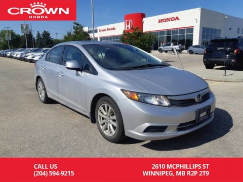 Pre-Owned 2012 Honda Civic Sdn EX-L/accident-free history/one owner/low kms