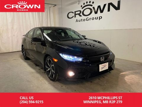 Pre-Owned 2018 Honda Civic Sedan Si Manual/ APPLE CARPLAY & ANDROID AUTO/ BACKUP CAMERA/ BLUETOOTH/ HEATED SEATS/ SUNROOF