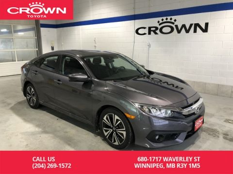 Pre-Owned 2017 Honda Civic Sedan 4dr CVT EX-T / Accident Free / Low Kms / Apple Carplay / Android Auto / Local / Lease Return / Immaculate Condition