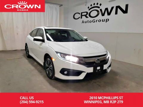 Certified Pre-Owned 2016 Honda Civic Sedan EX-T/ one owner lease return/low kms/back up cam/heated seats/sunroof/econ mode