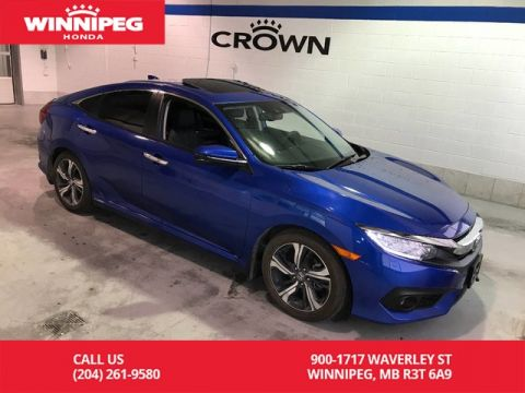 Pre-Owned 2016 Honda Civic Sedan Certified/Touring/Leather/Navigation/Sunroof/Heated seats