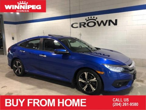 Certified Pre-Owned 2017 Honda Civic Sedan Touring / Certified / Navigation / Heated front and rear seats /