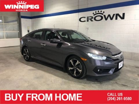 Certified Pre-Owned 2018 Honda Civic Sedan Touring / Certified / Navigation / Lane watch camera / Honda Safety technology