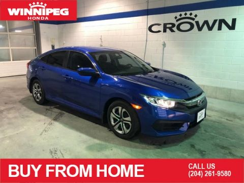 Certified Pre-Owned 2017 Honda Civic Sedan LX / Certified / Bluetooth / Rear view camera / Heated seats
