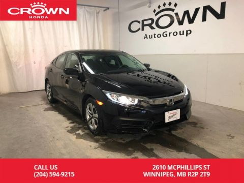 Certified Pre-Owned 2016 Honda Civic Sedan 4dr CVT LX/ ONE OWNER/ LOW KMS/ REMOTE SMART/ BACKUP CAMERA/ BLUETOOTH/