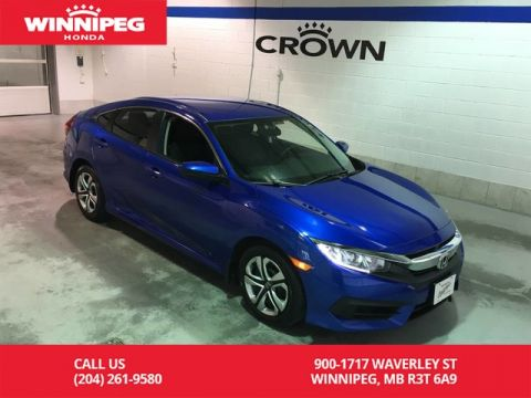 Certified Pre-Owned 2017 Honda Civic Sedan Certifed/LX/Bluetooth/Heated seats/Rear view camera