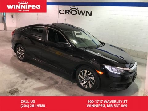 Pre-Owned 2016 Honda Civic Sedan EX/Sunroof/Heated seats/Bluetooth/Rear view camera