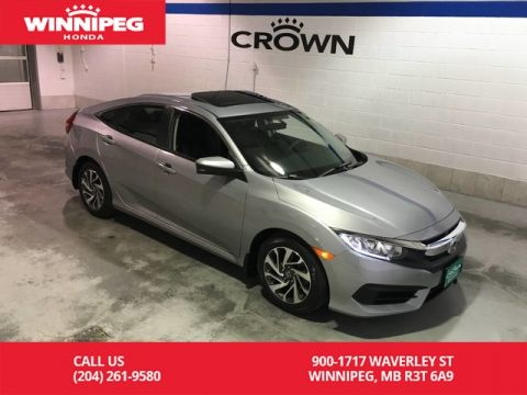 Pre-Owned 2016 Honda Civic Sedan EX/Bluetooth/Sunroof/Heated seats/Rear view camera