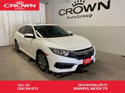 Pre-Owned 2017 Honda Civic Sedan 4dr CVT EX | LOW KMS | HEATED FRONT SEATS | APPLE CARPLAY | ANDROID AUTO | SUNROOF | BACKUP CAMERA