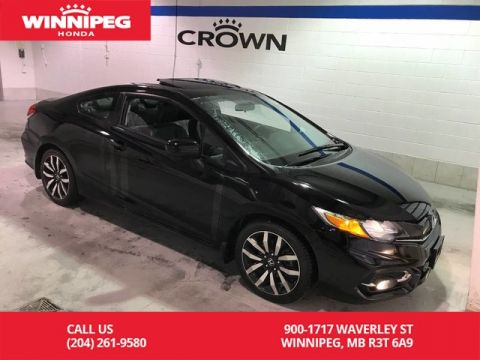 Pre-Owned 2015 Honda Civic Coupe EX-L/Local trade/Low KM/Bluetooth/Leather/Heated seats