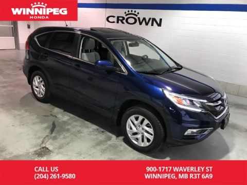 Certified Pre-Owned 2016 Honda CR-V Certified/Bluetooth/Sunroof/Heated seats/Power driver seat