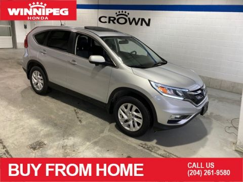 Certified Pre-Owned 2016 Honda CR-V Certified / EX-L / Sunroof / heated seats / Bluetooth / Lane watch display