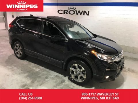 Pre-Owned 2017 Honda CR-V AWD/EX-L/Leather/Sunroof/Apple car play/Heated steering wheel
