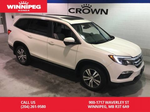 Pre-Owned 2016 Honda Pilot EX-L/Sunroof/Bluetooth/Leather/8 passenger seating