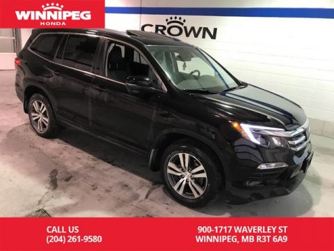 Pre-Owned 2017 Honda Pilot Certified/EX-L w/Navi/Bluetooth/Leather/Sunroof/8 passenger