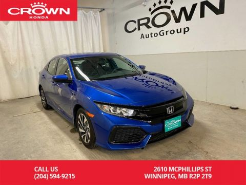 Certified Pre-Owned 2017 Honda Civic Hatchback 5dr CVT LX/ ONE OWNER/ LOW KMS/ HEATED FRONT SEATS/ BACKUP CAMERA/ BLUETOOTH