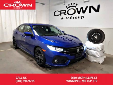 Pre-Owned 2017 Honda Civic Hatchback Sport/ONE OWNER LEASE RETURN/ WINTER TIRES/ BACK UP CAM/ HEATED SEATS/ PUSH START/ECON MODE/