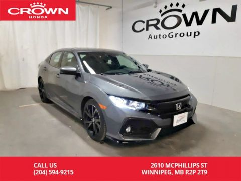 Pre-Owned 2017 Honda Civic Hatchback Sport w/Honda Sensing/ ONE OWNER/ LOW KMS/push start button/