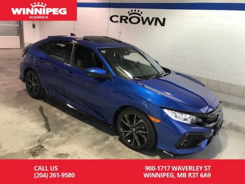 Certified Pre-Owned 2017 Honda Civic Hatchback Certified/Sport w/Honda Sensing/Bluetooth/Sunroof/Heated seats